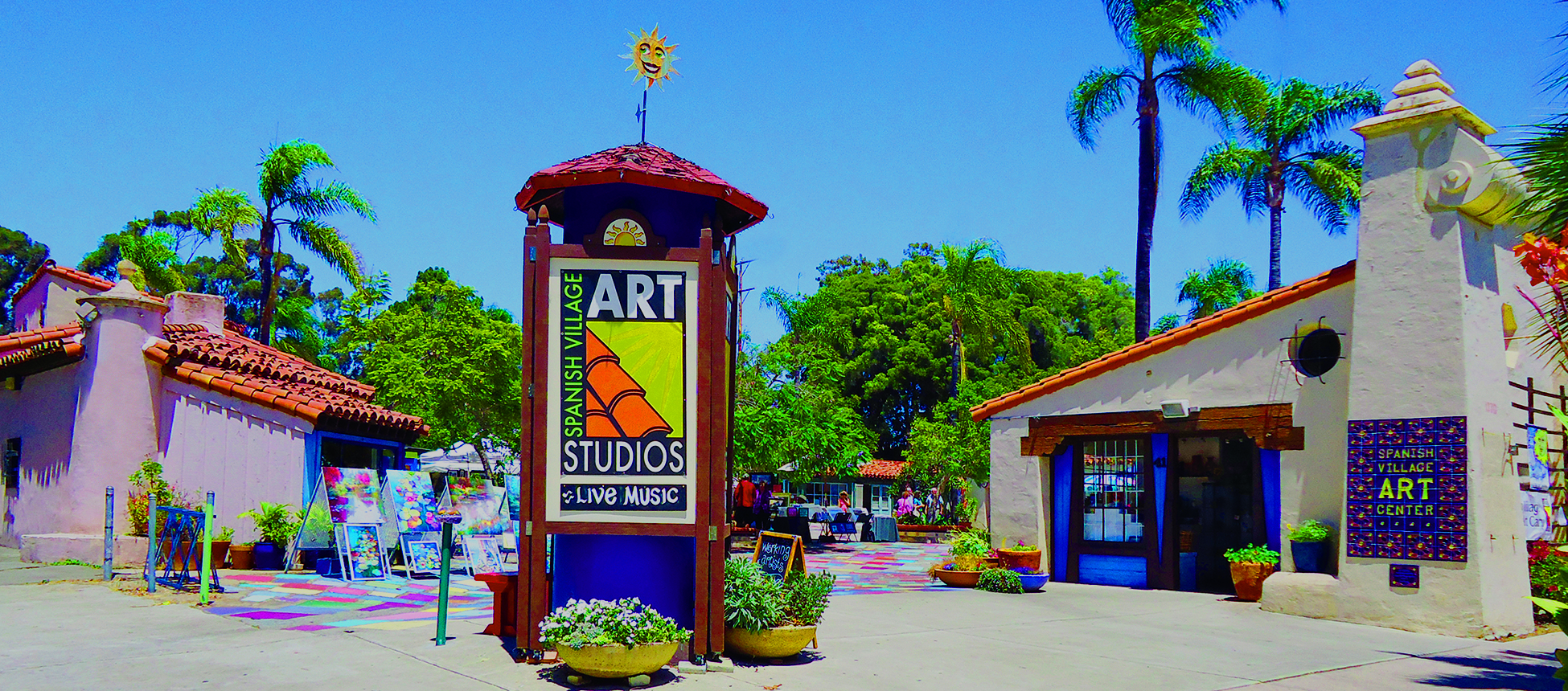 Entrance to the Spanish Village Art Center