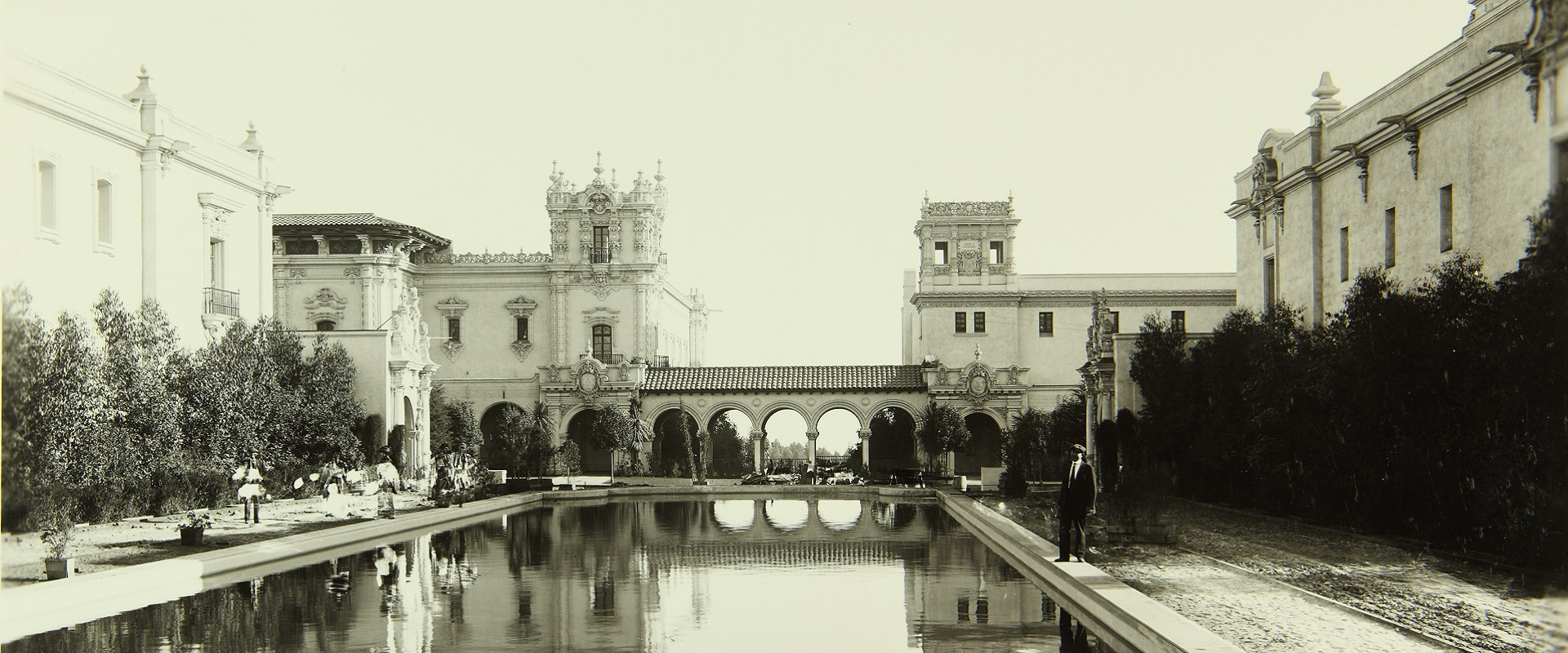 The Lily Pond in 1915 at Balboa Park