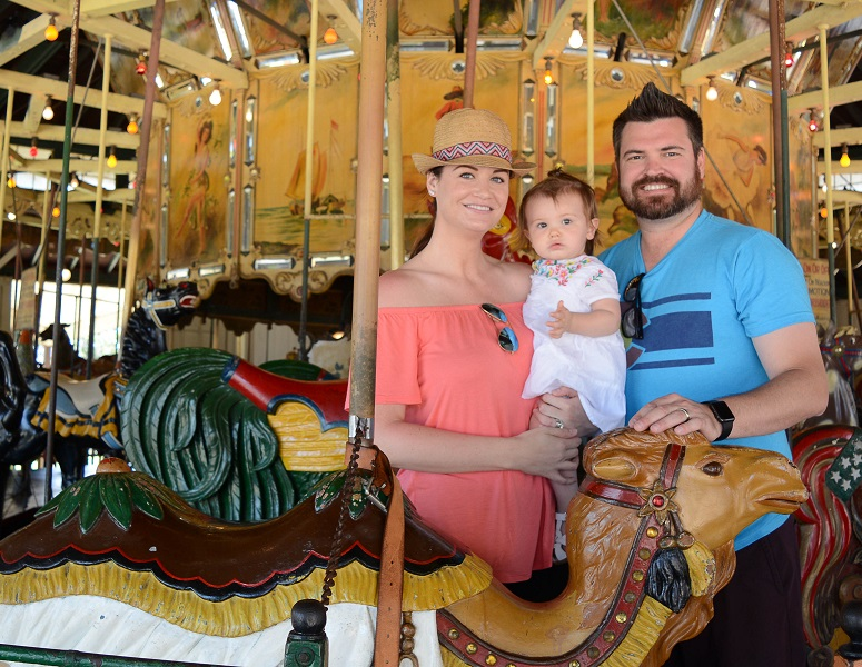Family at Balboa Park Carousel