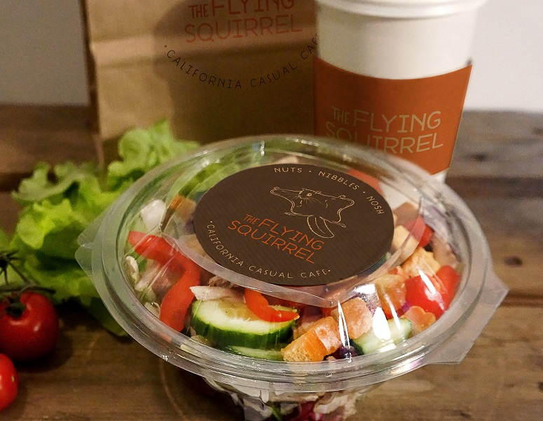 Fresh salads at the Flying Squirrel
