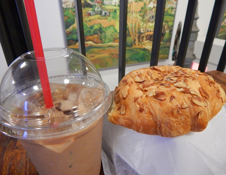 Coffee and pastry at Cafe in the Park