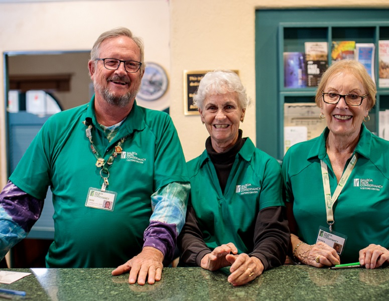 Visitors Center Staff ready to assist