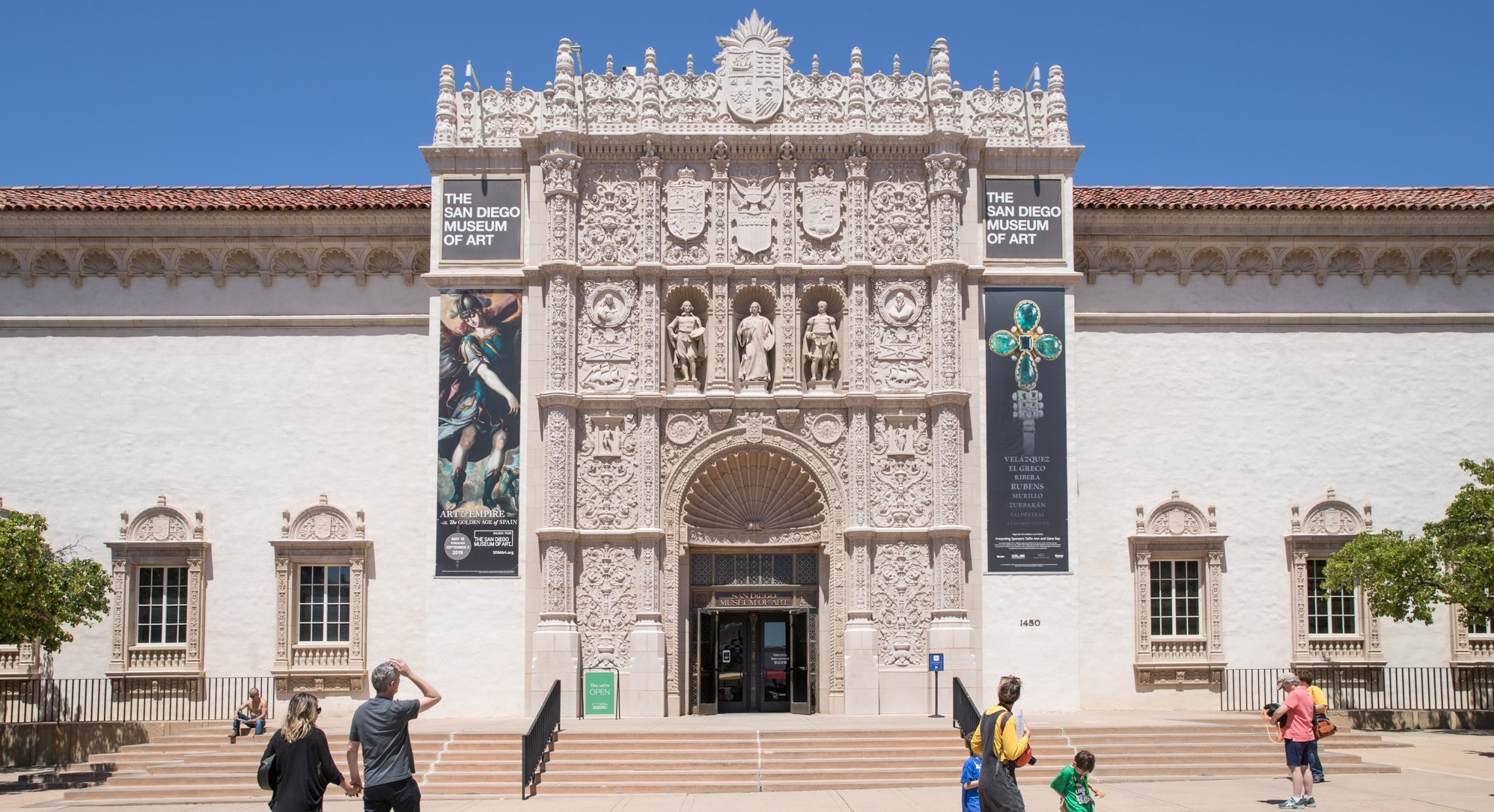 Front entrance of the San Diego Museum of Art