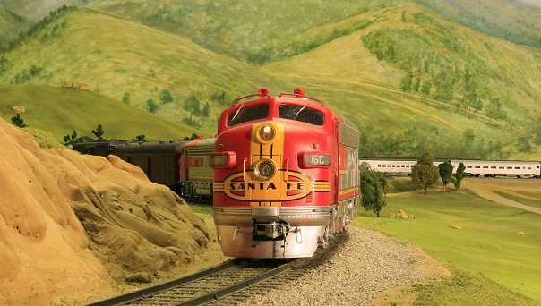 Santa Fe Model Train at the San Diego Model Railroad Museum