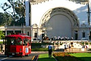 The Spreckels Organ Pavilion from the Plaza de Panama at Balboa Park