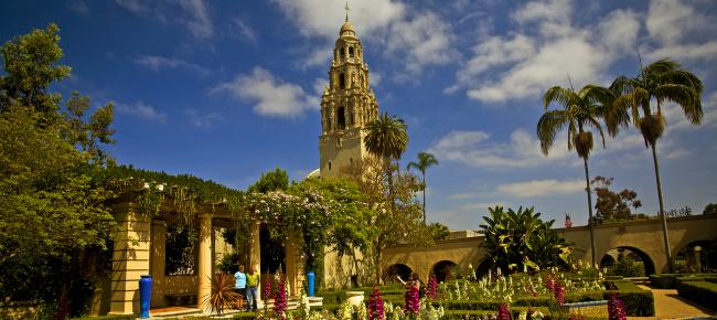 Alcazar Garden and the California Tower